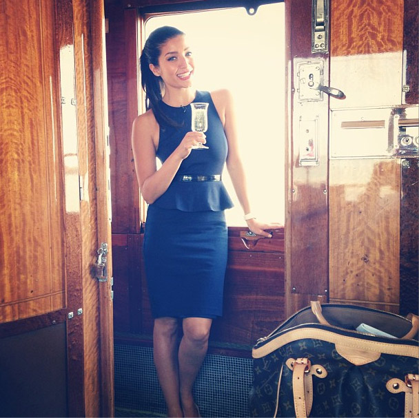 Jeannie onboard the Orient Express